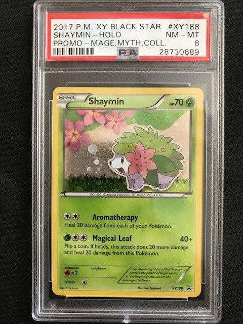 Mythical Shaymin XY188 XY Black Star Holo PROMO Pokemon Card