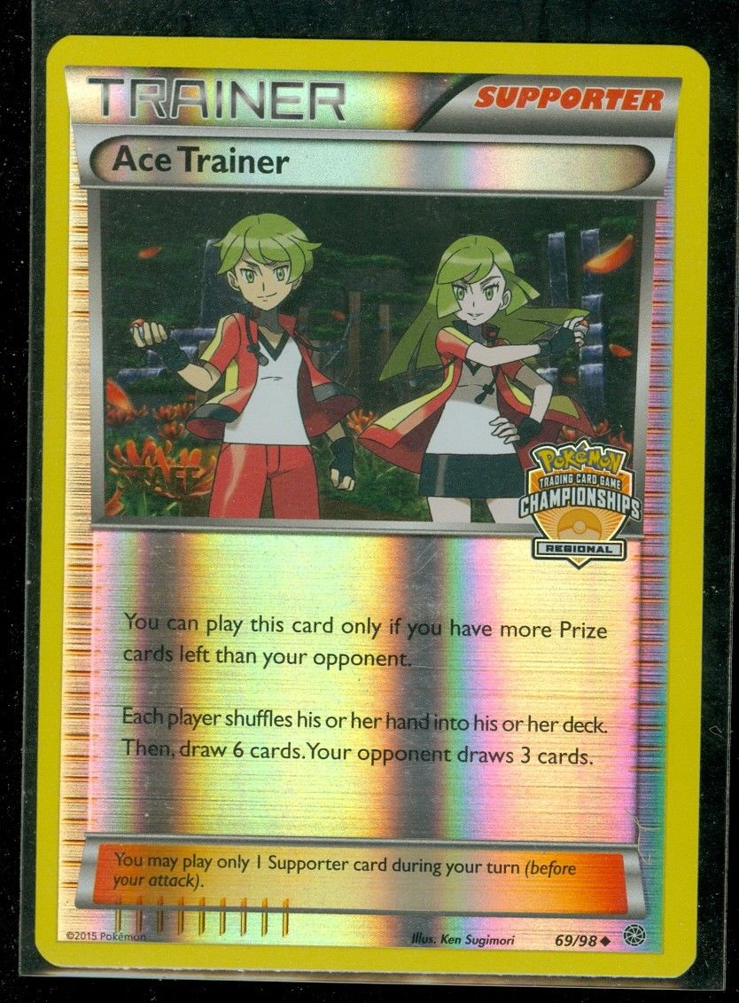 Pokémon Tcg 2x Ace Trainer #69//98 Mint Trainer Card Supporter Uncommon English