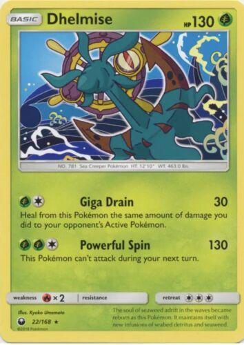 4x Pokemon Dhelmise - 22/168 - Rare NM-Mint Celestial Storm
