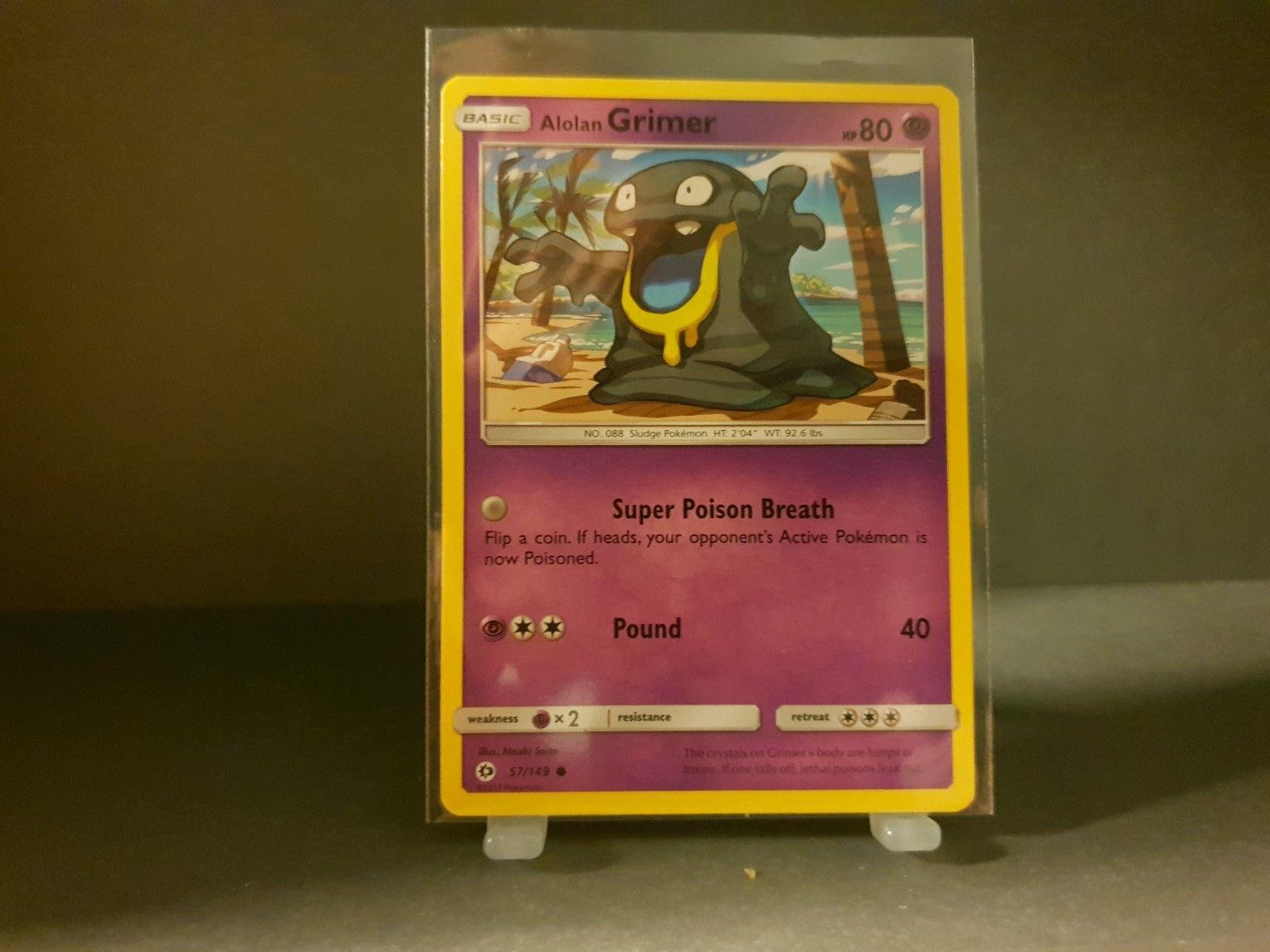 4x Pokemon Sun and Moon Alolan Grimer 57//149 Common Card