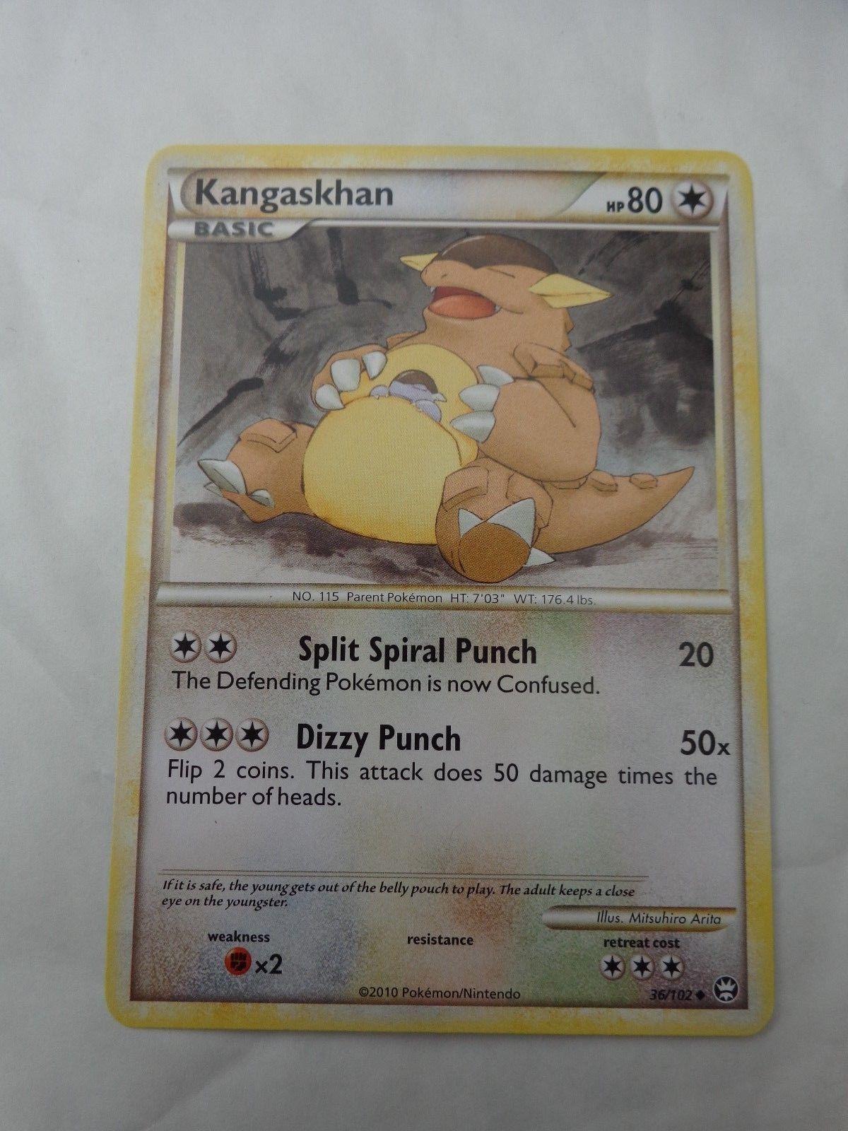 Kangaskhan Uncommon HS Triumphant NM Reverse Holo 36//102 Pokemon