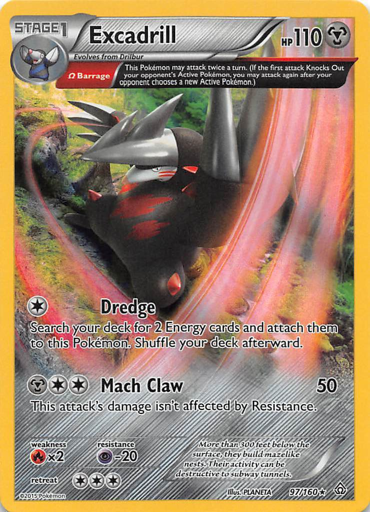 Pokemon, XY - Primal Clash, Excadrill (Omega) Holo 97/160p2-1496 - Image 1