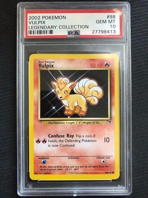 2002 Pokemon Cards Vulpix #98//110 Legendary Collection NM+
