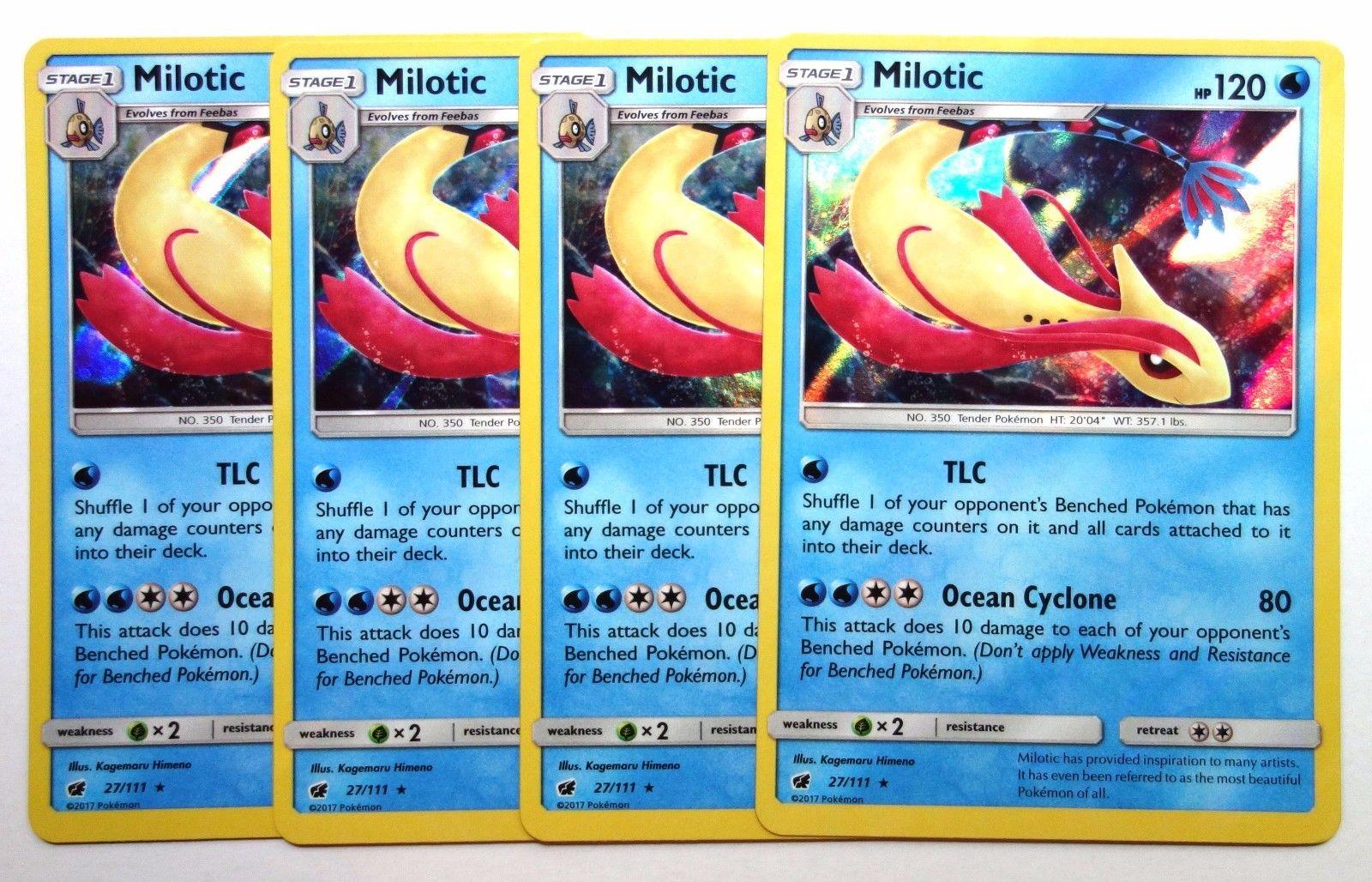 Milotic Holo Rare Crimson Invasion 27//111