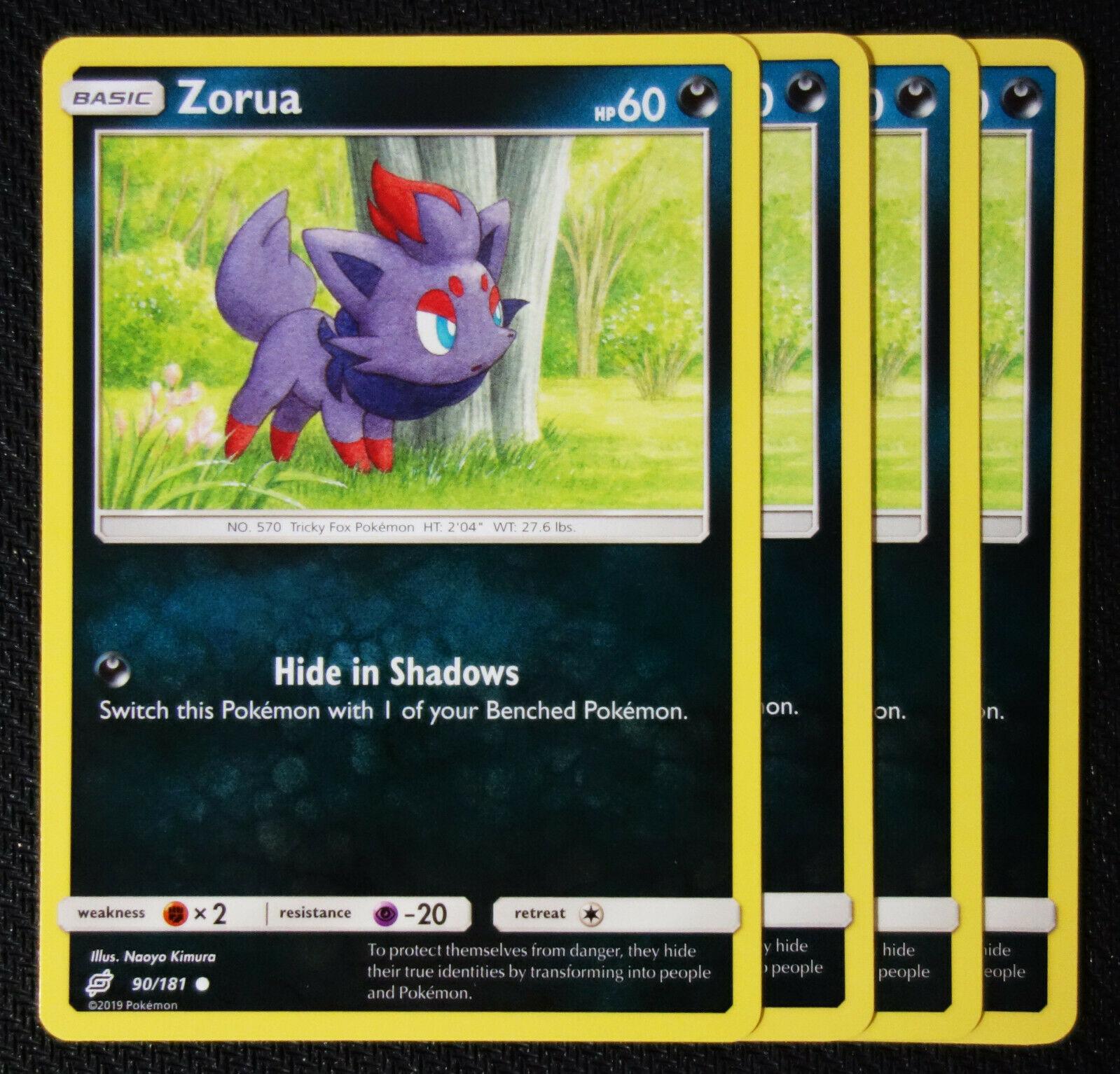 - NM Common Pokemon Card 2019 Zorua 90//181 Team Up Set