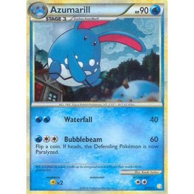 Pokemon! Azumarill HeartGold /& SoulSilver 2//123 DE! Holo Rare Near Mint