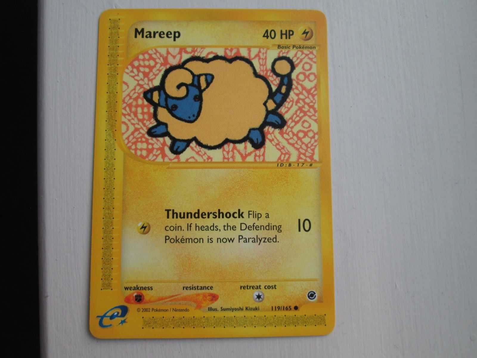 Mareep Pokemon Expedition Common Card #119//165
