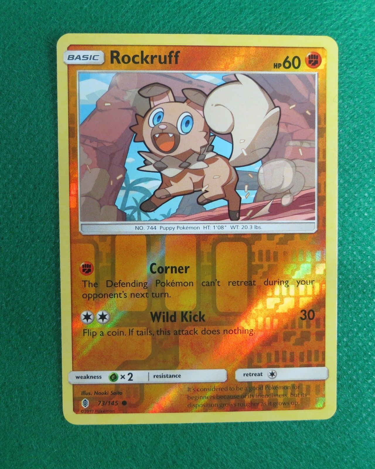 x4 Rockruff 73//145 Common Pokemon SM2 Guardians Rising M//NM English