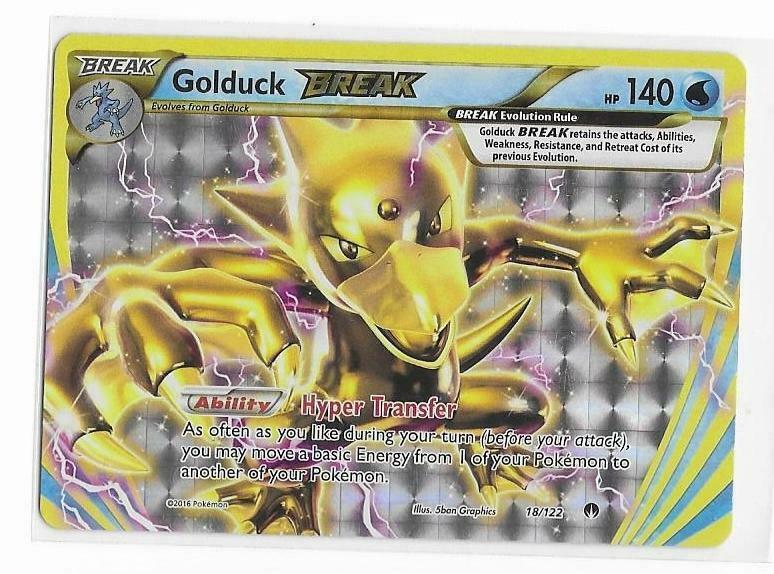 18//122 XY Breakpoint Entoron TURBO BREAK Holo EN NM Pokemon Golduck Break