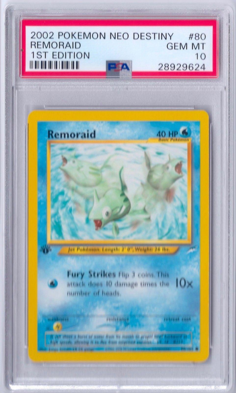 Remoraid 80//105 1ST EDITION Neo Destiny Set Pokemon Card NEAR MINT