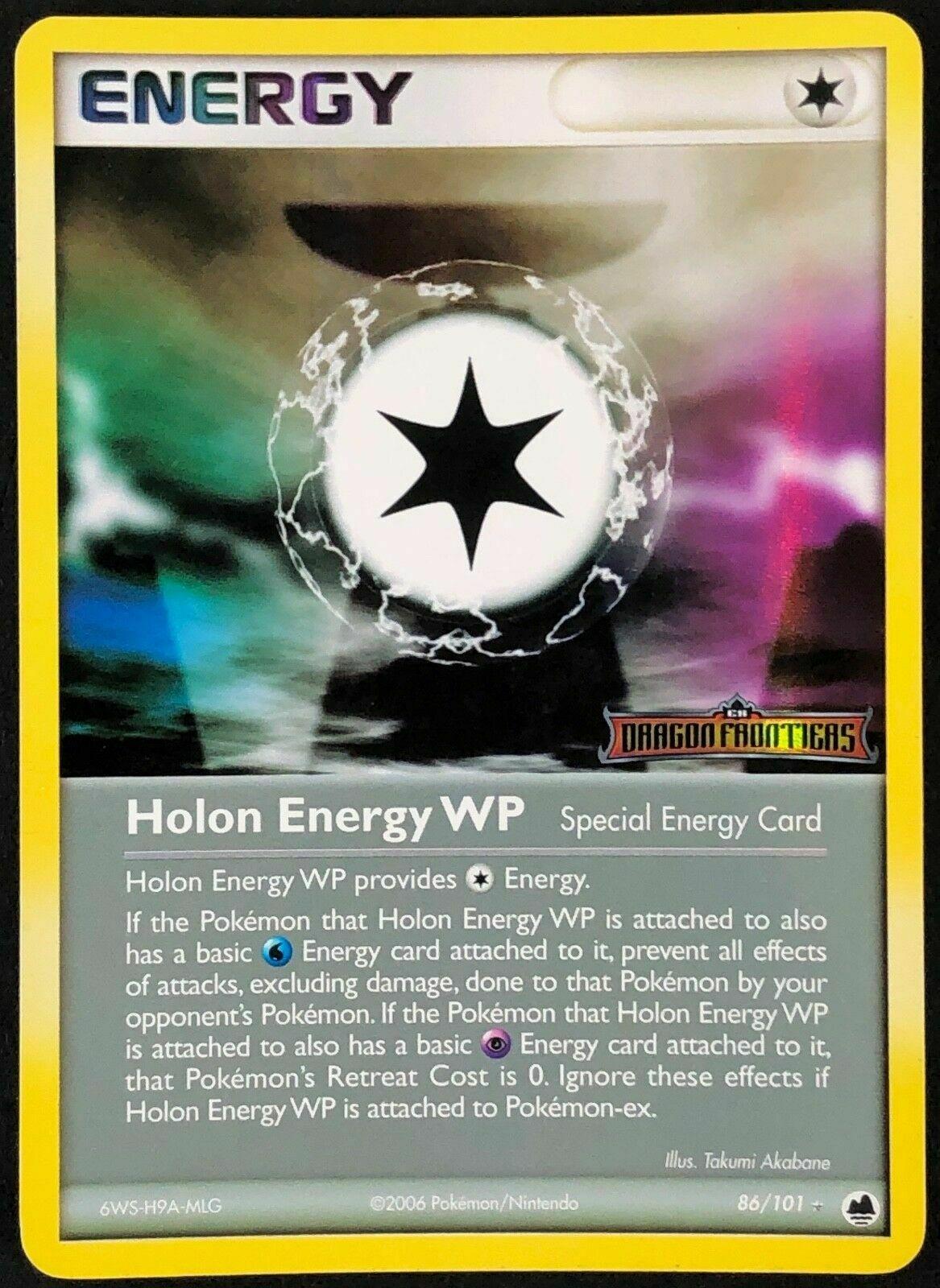 REVERSE HOLO EX DRAGON FRONTIERS NM POKEMON 86//101 Holon Energy WP
