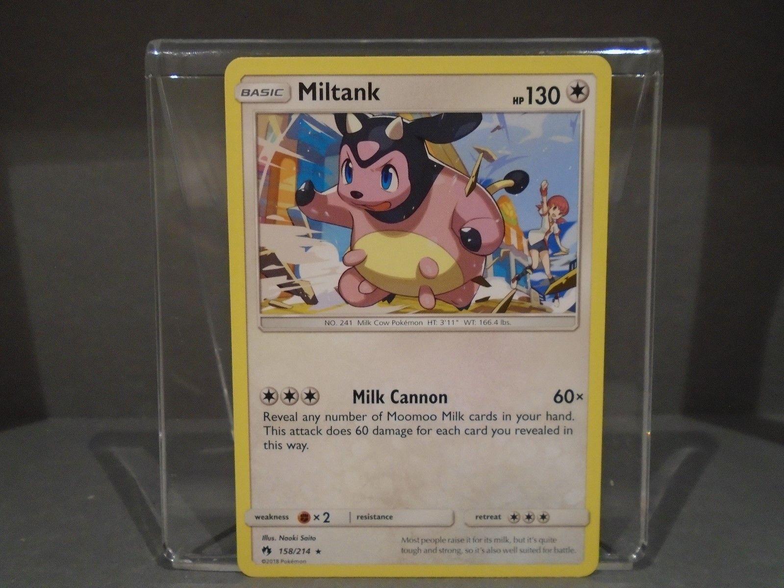Pokemon Miltank Rare NM-Mint Lost Thunder 158//214