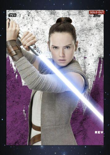 Topps Star Wars Card Trader Purple Cartoon Obi-Wan Kenobi Digital Card Cc 10