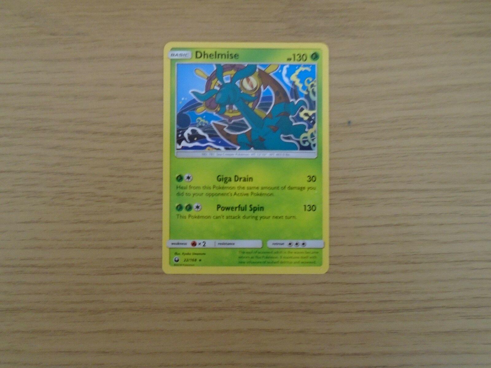 Pokemon Card - DHELMISE - Celestial Storm - 22/168 - Mint - Rare