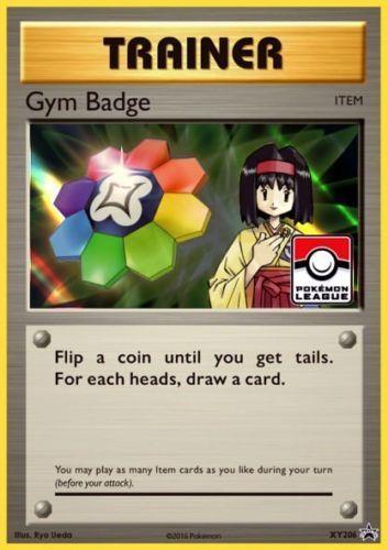 Pokemon Card Misty Gym Badge XY204 League Promo