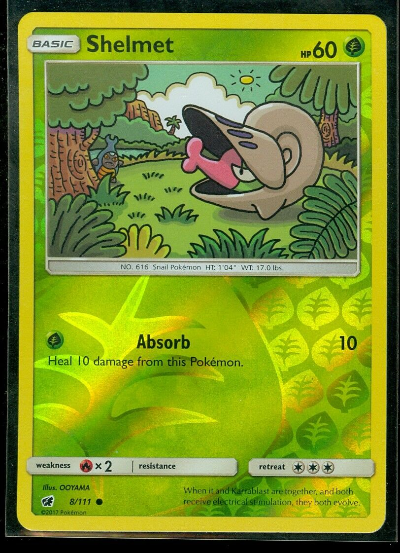 x4 Shelmet 8//111 Pokemon Common NM-Mint Crimson Invasion