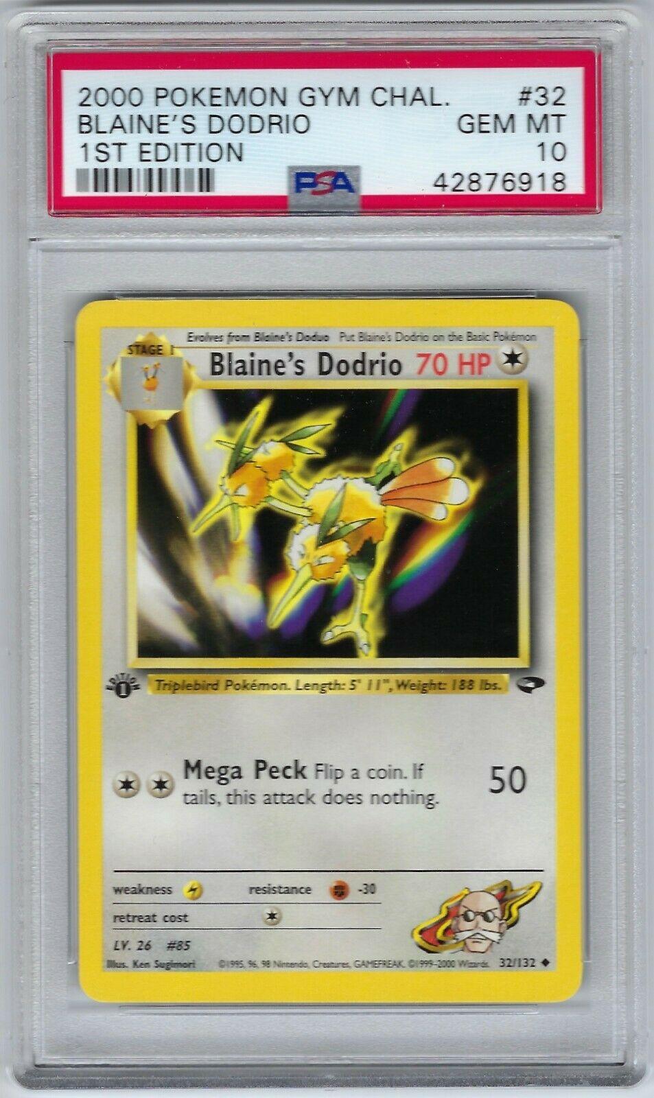Englisch Pokemon Gym Challenge 32//132 Blaine/'s Dodrio Uncommon