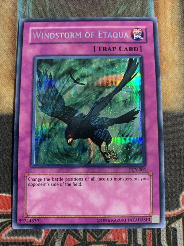 LP//P PCY-001 Yugioh Windstorm of Etaqua Secret Rare Unlimited Ed