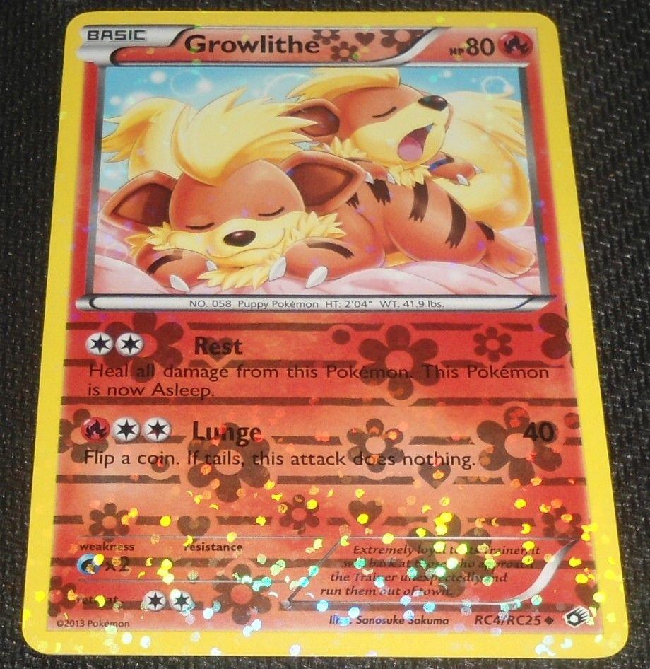 Growlithe RC4//RC25 Legendary Treasures Pokemon Card Exc Condition