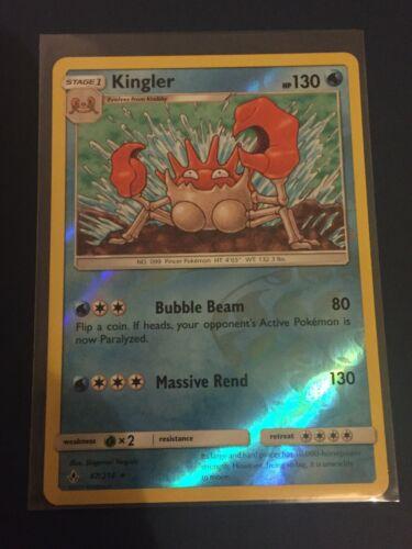 Kingler 47/214 Unbroken Bonds - Reverse Holo Rare Pokemon Card - Mint