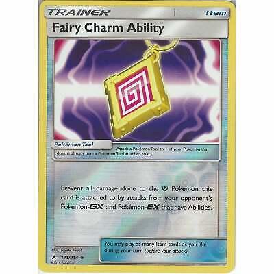 Unbroken Bonds Fairy Charm Ability 171//214 Trainer Card Playset x4 Cards
