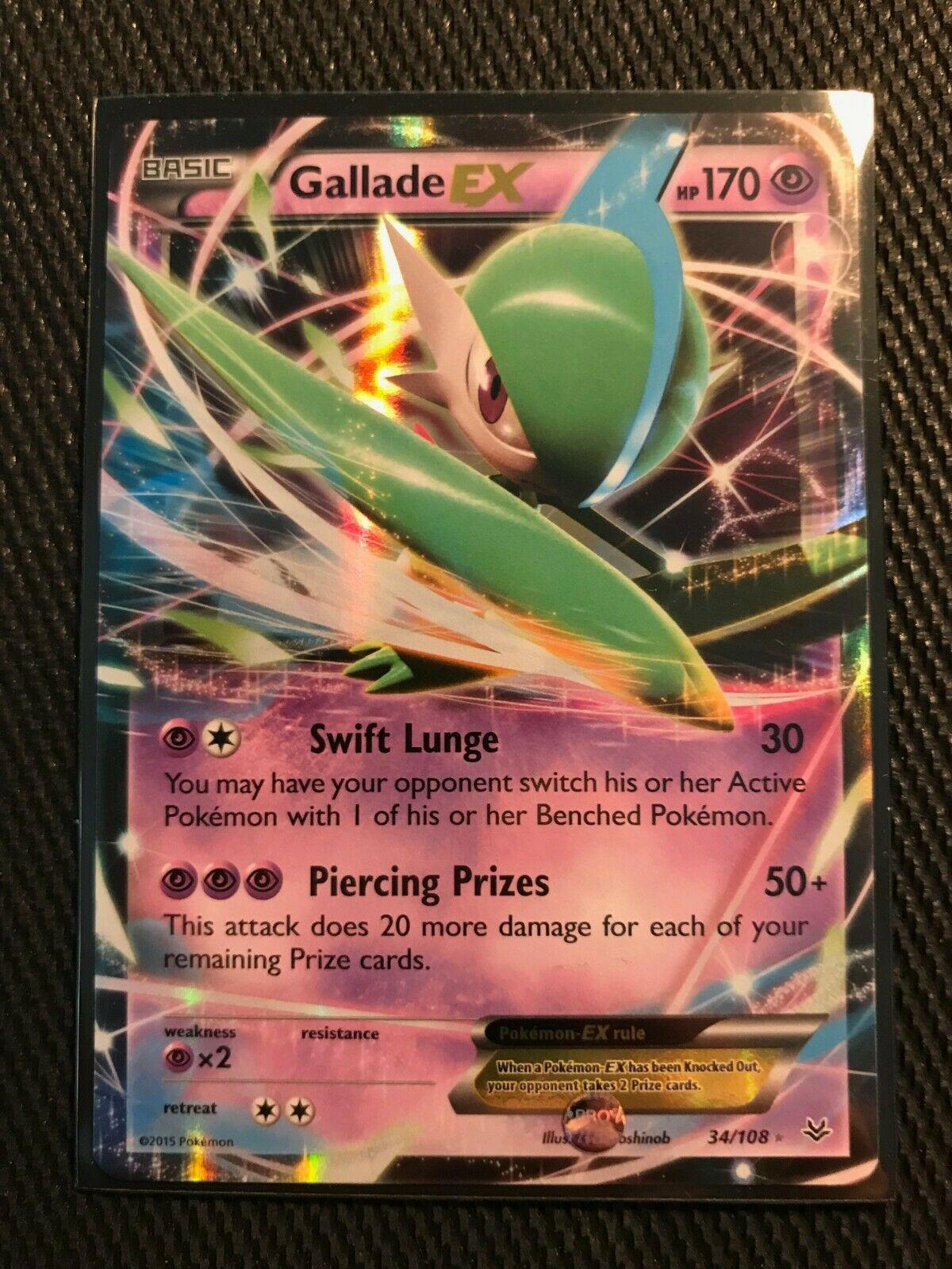 Pokemon Gallade Ex Roaring Skies 34//108 Half Art Holo Nr Mint