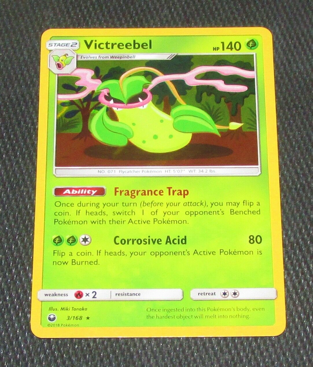 3//168 Celestial Storm Holo Rare Pokemon: Victreebel