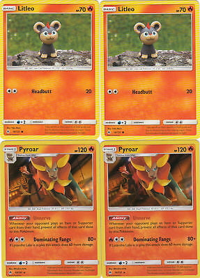 2x Litleo 18/131 Pyroar 19/131 | Pokemon Forbidden Light - Image 1