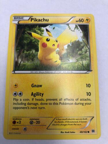 Pikachu 48//162 BREAKthrough Reverse Holo Mint Pokemon Card