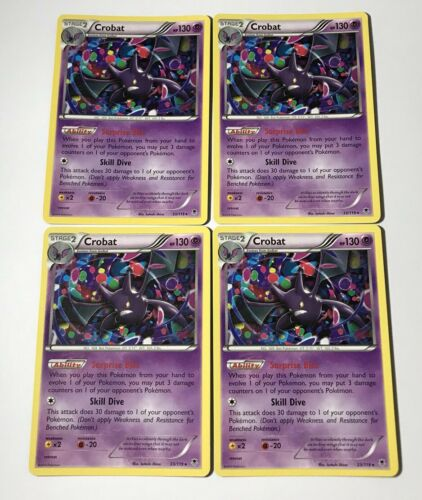 OtBG x1 Crobat 33//119 Phantom Forces XY Promo Cosmo Holo Foil Near Mint NM