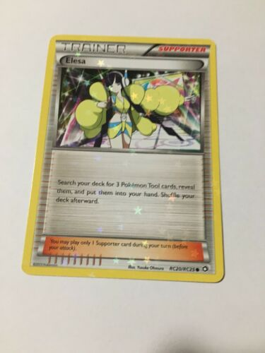 4X Legendary Treasures Holo Elesa RC20//RC25 Trainer Set Pokemon Trading Card