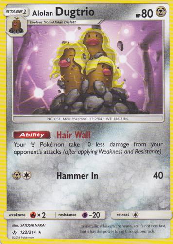4x Alolan Dugtrio 122/214   Pokemon Unbroken Bonds