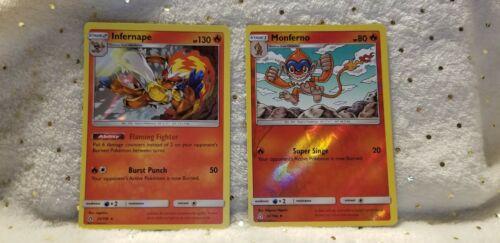 Pokemon TCG Monferno 22/156 Reverse Holo& Infernape 23/156 Holo Fire M English  - Image 1