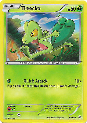 Primal Clash Set Treecko 6//160 Common Pokemon Card - NM 2015