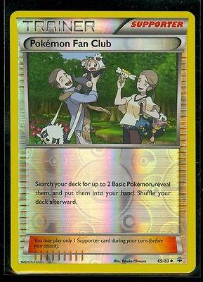 OtBG x1 Pokemon Fan Club 69//83 XY Generations reverse Holo Foil Near Mint NM