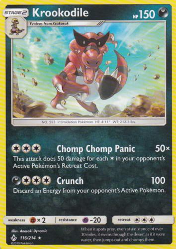 4x Krookodile 116/214   Pokemon Unbroken Bonds