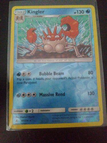 Pokemon Kingler - 47/214 - Rare - Reverse Holo NM-Mint Unbroken Bonds
