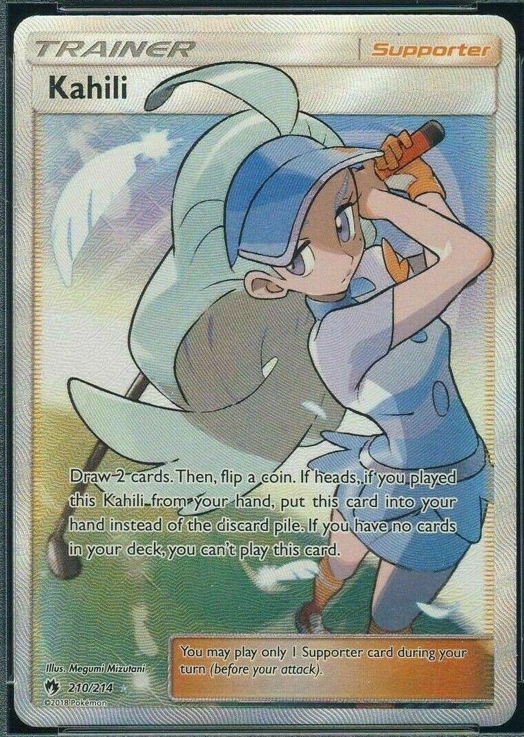 Pokemon Kahili Trainer Full Art Ultra Lost Thunder 210//214 Unplayed NM-MT