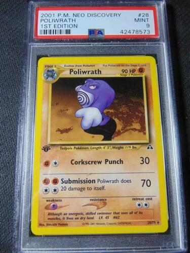 Pokemon Neo Discovery Rare Card #28//75 Poliwrath