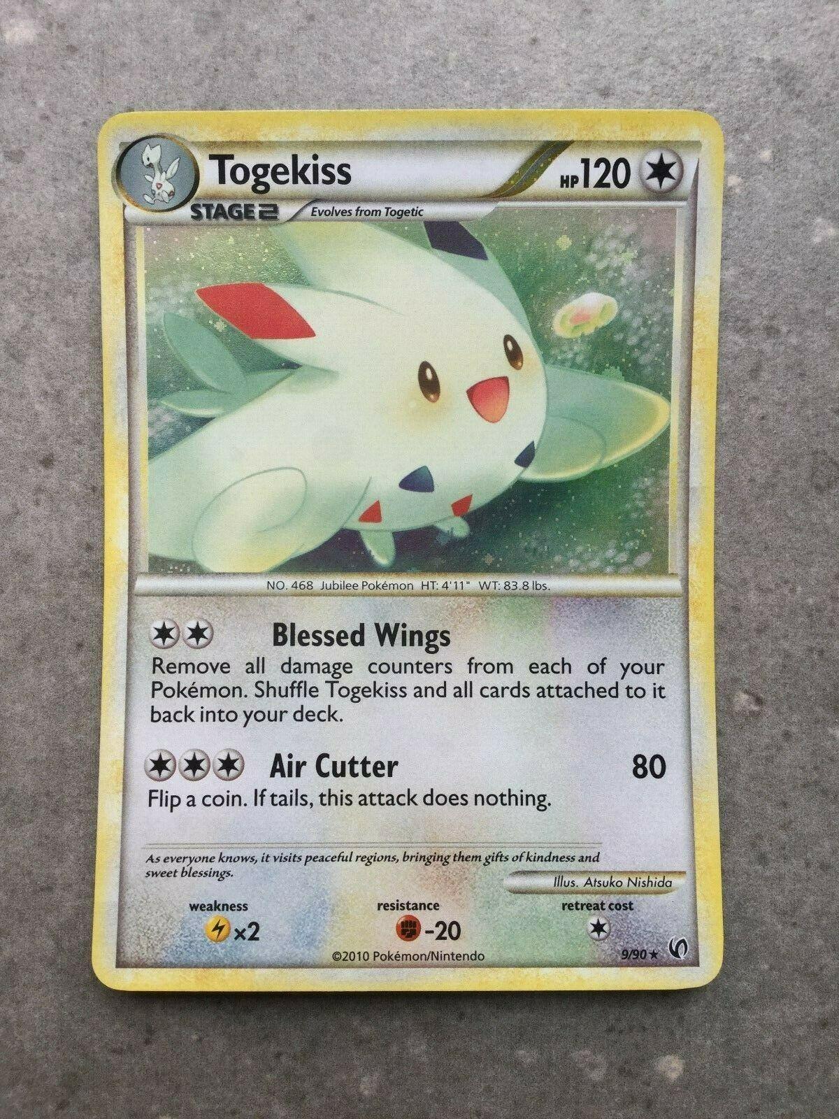 Undaunted Pokemon 2B3 9//90 Holo Rare NM HGSS Togekiss
