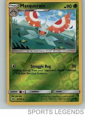 Masquerain 8//149 Sun /& Moon Rare Mint Pokemon Card