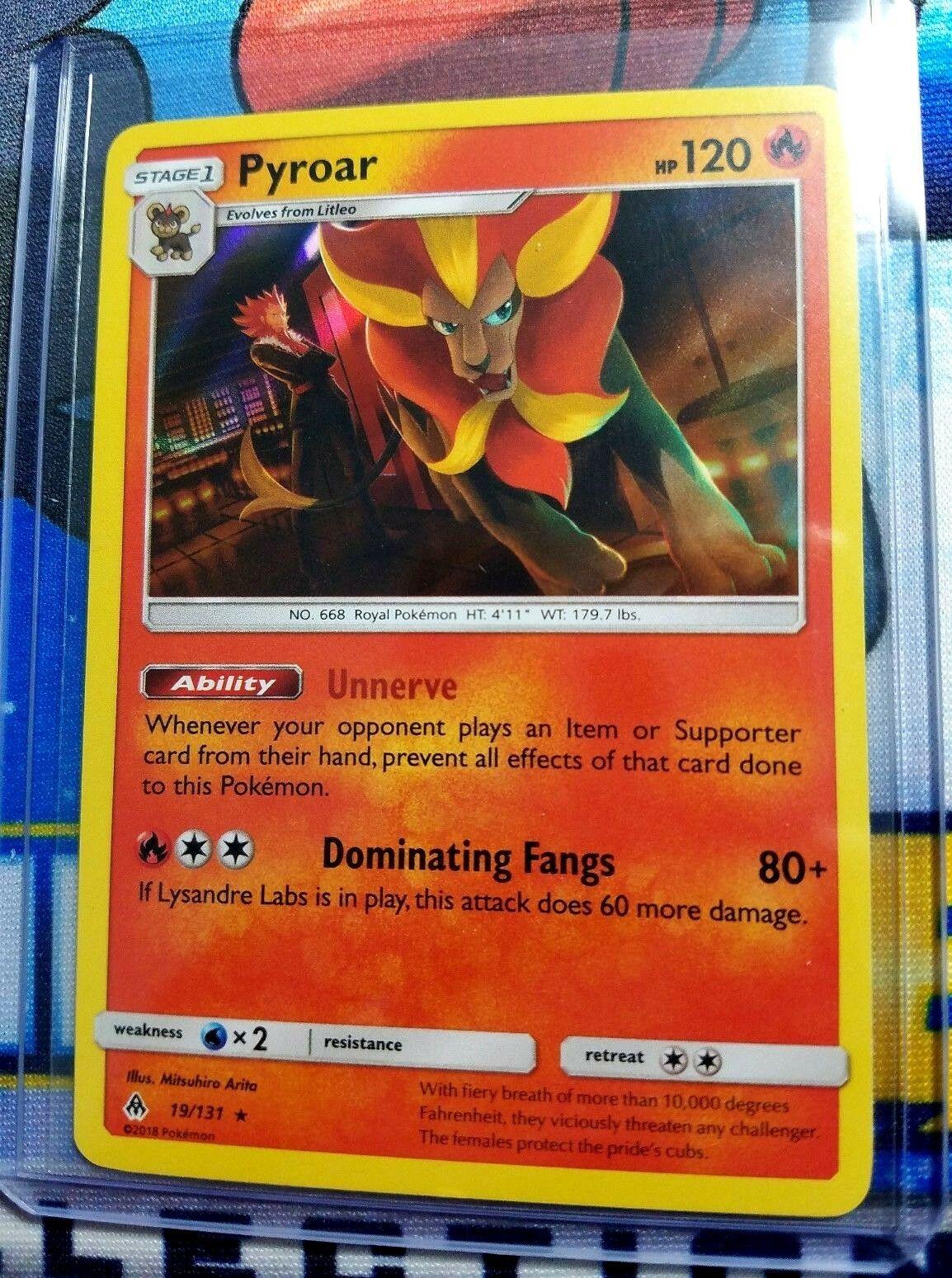 Pokemon Sun and Moon Pyroar 19/131 Holo Rare Forbidden Light IN STOCK - Image 1