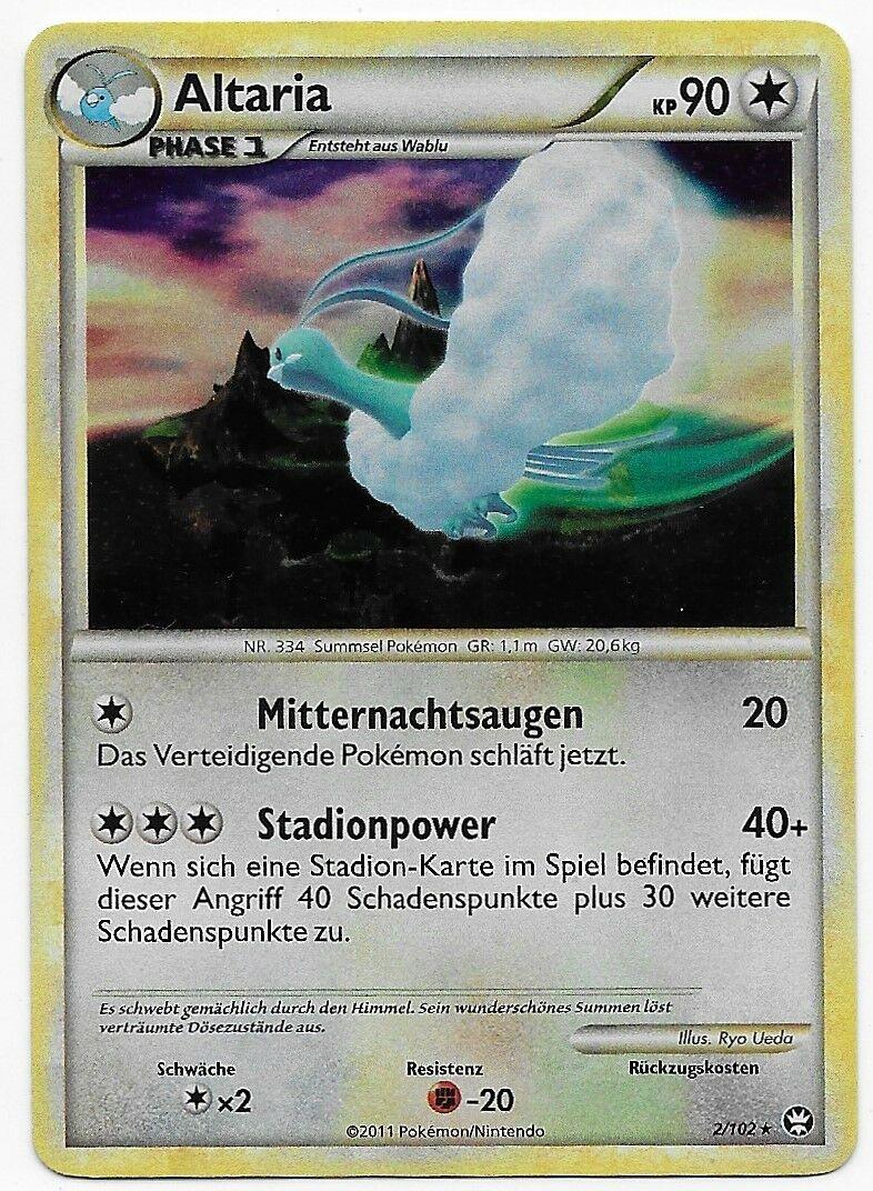 Pokemon Card HGSS Triumphant Altaria holo 2//102 PSA 9 Mint