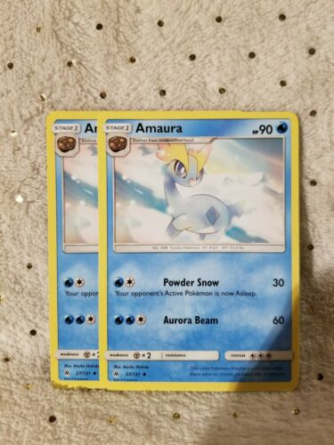 Pokemon 4X AMAURA 27//131 UNCOMMON NM CARDS  FORBIDDEN LIGHT
