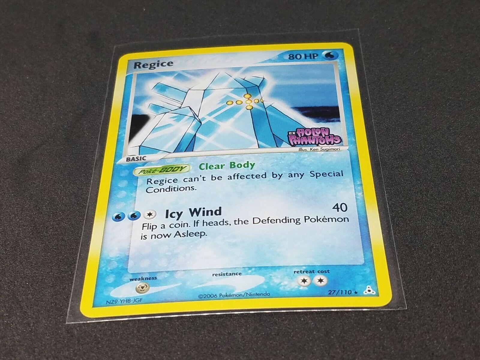 Regice 27//110 Ex Holon Phantoms Pokemon Card Light Played