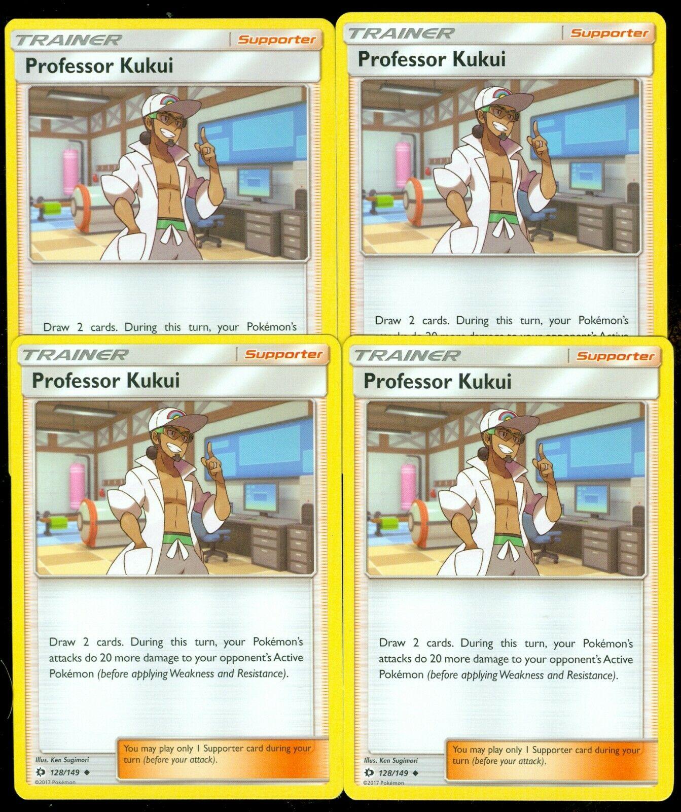 Pokemon PROFESSOR KUKUI 128//149 UNCOMMON REVERSE HOLOFOIL MINT CARD