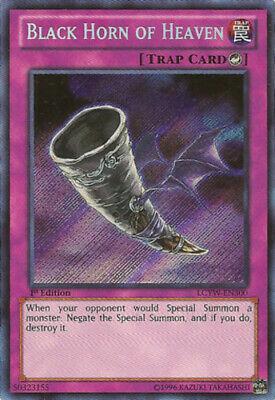 LCYW-EN300 Secret Rare Yugioh Mint 1st Edition Black Horn Of Heaven