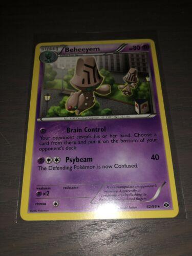 1x Beheeyem 62//99 Rare NM-Mint Pokemon BW Next Destinies