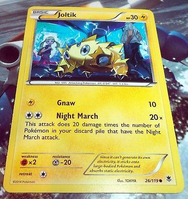 Pokemon 4 x Joltik Night March Phantom Forces 26//119 Common Nr Mint