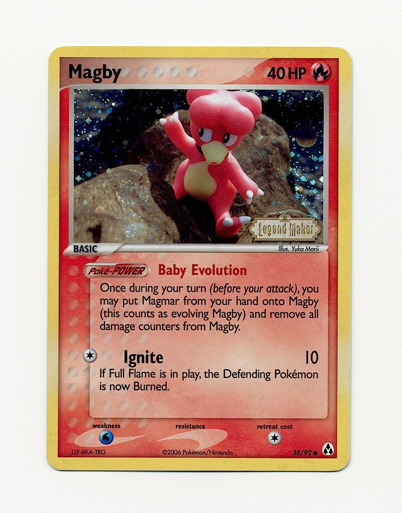 5x Magby Common NM Legend Maker Pokemon 58//92